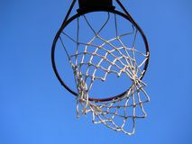 Hanging basketball net Royalty Free Stock Images