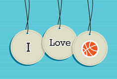 Hanging basketball sign icons set Royalty Free Stock Photography