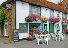 Hanging baskets at the two brewers pub Royalty Free Stock Images