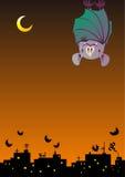 Hanging bat at night sky Royalty Free Stock Images