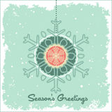 Hanging bauble snowflakes Stock Photos