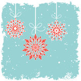 Hanging bauble snowflakes   Stock Image