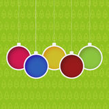 Hanging baubles. Christmas background with hanging baubles Royalty Free Stock Image