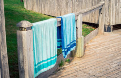 hanging beach towel. hanging beach towels. towels at basin head in pei stock photography towel