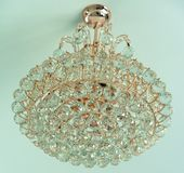 Beautiful crystal Luxury Chandelier Lights stock photos