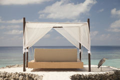 Hanging bed in the Maldives Stock Images