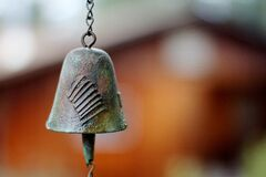 Hanging bell Stock Photo