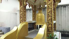Hanging bells in Wat Phra That Doi Suthep at Chiang Mai ,Thailand. stock footage