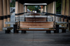 Hanging Benches on a Dock Stock Images