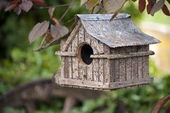 Hanging bird house Royalty Free Stock Photo