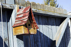 Hanging bird house Stock Images