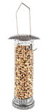 Hanging Birdfeeder with Peanuts, Isolated Royalty Free Stock Photography
