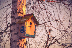 Hanging birdhouse Stock Photos