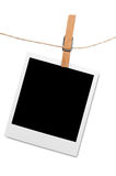 Hanging blank photo frame Stock Photography