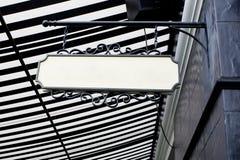 Hanging board - white blank Stock Image