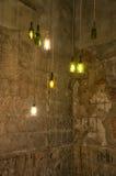 Hanging bottle lights Stock Images