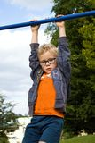Hanging boy Royalty Free Stock Photography