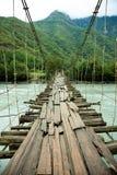 Hanging bridge stock images