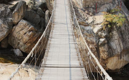 Hanging bridge Stock Photo