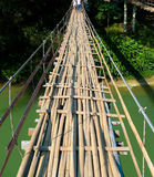 Hanging bridge stock photography