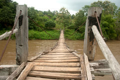 Hanging bridge . Stock Photos