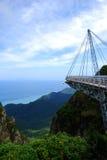 Hanging Bridge. In Langkawi-Malaysia foto taken in 2008 Stock Image