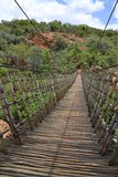 Hanging bridge closeup Stock Image