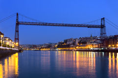 Hanging bridge between Portugalete and Getxo Royalty Free Stock Images
