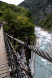 Hanging Bridge, Taroko National Forest Park, Taiwan Stock Image