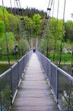 Hanging bridge in Zagorze Slaskie, Poland Royalty Free Stock Photography
