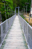 Hanging bridge in Zagorze Slaskie, Poland Stock Photo