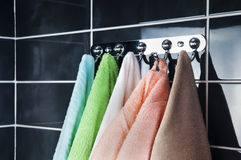Hanging bright towels Stock Photography