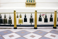 Hanging bronze bells in Wat Phrathat temple on Doi Suthep,, Chiang Mai, Northern Thailand Stock Photography