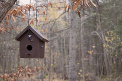 Hanging Brown Bird House Stock Photography