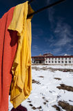Hanging buddhist monks clothes Stock Photography
