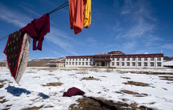 Hanging buddhist monks clothes Royalty Free Stock Image