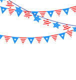 Hanging Bunting Garlands American Stock Images