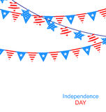 Hanging Bunting Garlands Royalty Free Stock Images