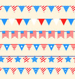 Hanging Bunting Pennants Stock Images
