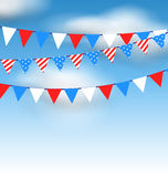 Hanging Bunting Pennants Royalty Free Stock Photos