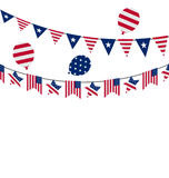 Hanging Bunting pennants for Independence Day USA Royalty Free Stock Images