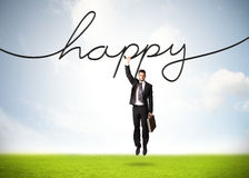 Hanging businessman Royalty Free Stock Images
