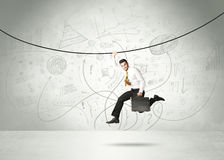Hanging businessman Stock Photos
