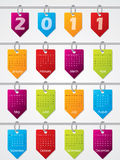 Hanging calendar design for 2011. Hanging calendar design for year 2011 Royalty Free Stock Photo