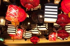 Hanging candleholders, chandeliers Stock Photos