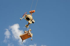 Hanging cement mixer Stock Image