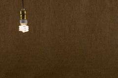 Hanging CFL Bulb Background Stock Photo