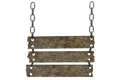Hanging Chain linked Wooden Sign Royalty Free Stock Image