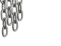 Hanging chains, isolated on white background. Stock Images