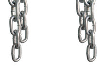 Hanging chains, isolated on white background. Hanging chains, isolated on white background Stock Photo